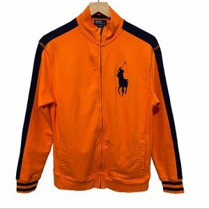 POLO RALPH LAUREN Zip Front Jacket Oversize Logo